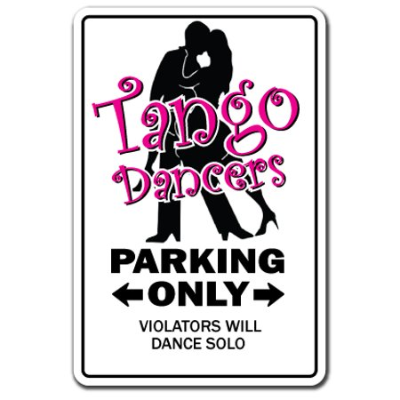Tango Dancer Decal | Indoor/Outdoor | Funny Home Décor for Garages, Living Rooms, Bedroom, Offices | SignMission Dance Music Song Funny Gift Teacher Instructor Dancing Shoes Wall Plaque