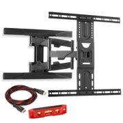 """Mountio Heavy Duty Full Motion Articulating Tilt Swivel TV Wall Mount Extension Universal Bracket for 40""""-70"""" Flat Screen LED OLED QLED Televisions"""