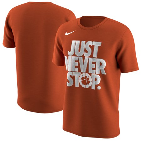 Clemson Tigers Nike 2018 NCAA Men's Basketball Tournament March Madness Selection Sunday Just Never Stop T-Shirt - Orange ()
