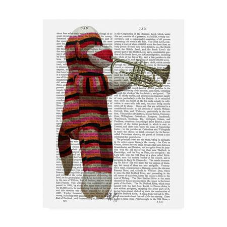 Trademark Fine Art 'Sock Monkey Playing Trumpet' Canvas Art by Fab