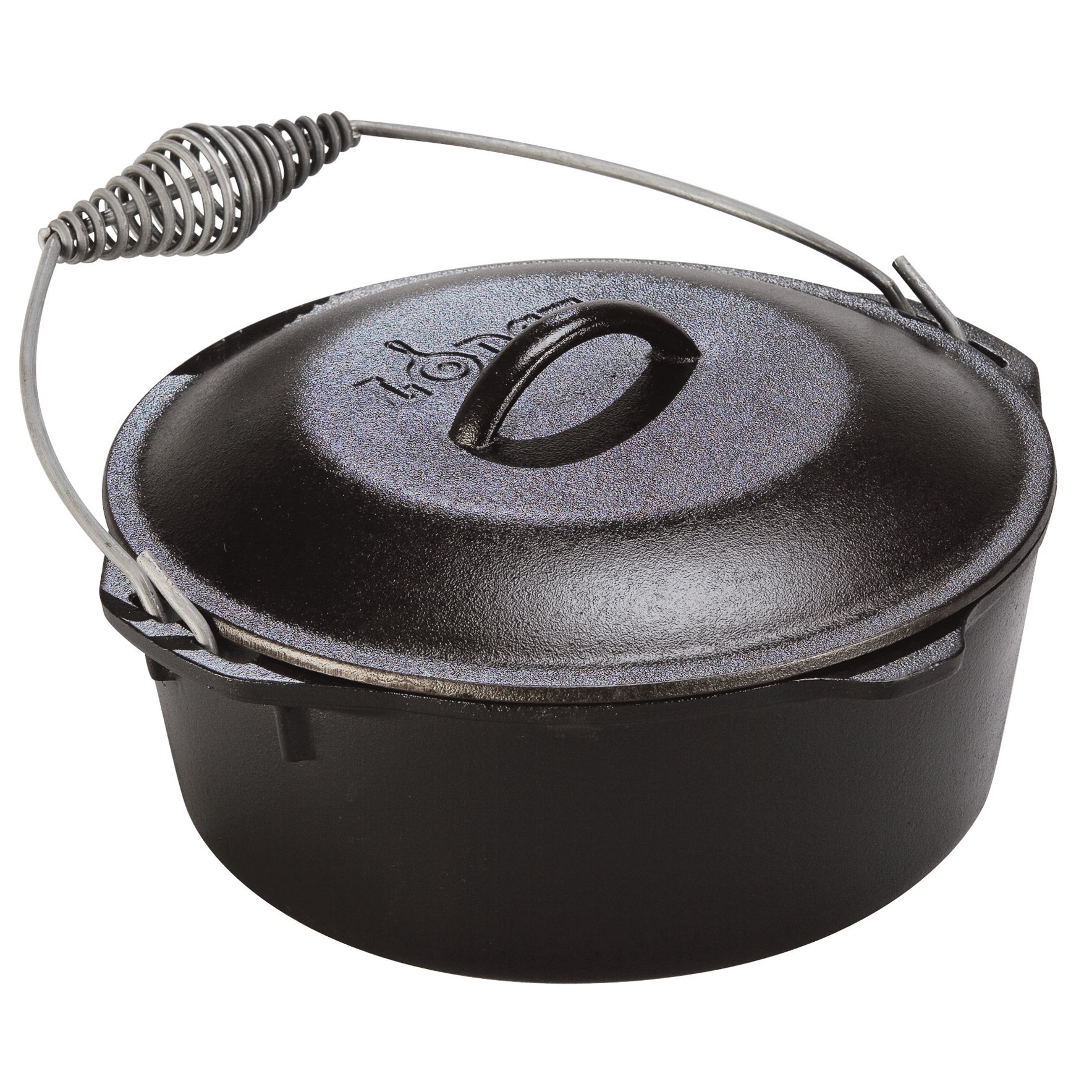 Lodge 5 Quart Spiral Bail Handle Cast Iron Dutch Oven, L8DO3