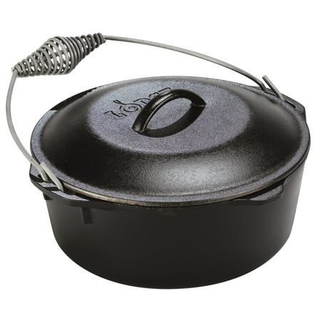 5 Quart Spiral Bail Handle Cast Iron Dutch Oven, L8DO3