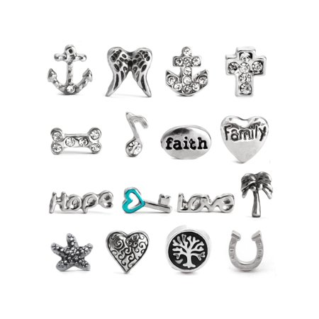 Floating Charm Necklace Locket Charms - Select Your Charm Style](Floating Charm)