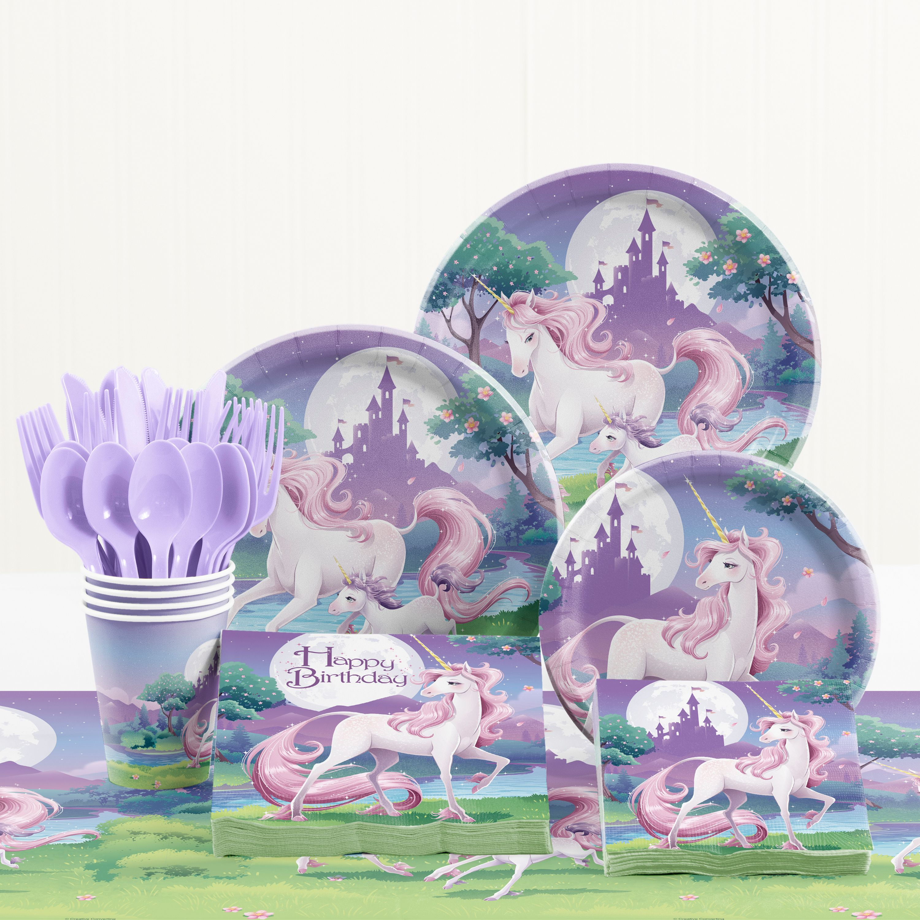 Unicorn Fantasy Birthday Party Supplies Kit