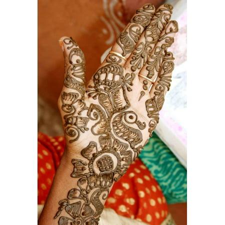 Mehandi Hand Print Wall Art By satyasun