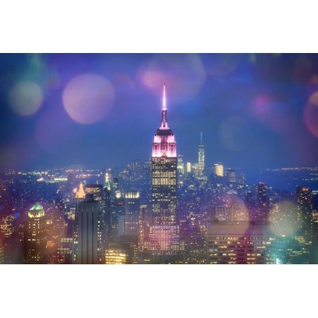 - Usa, New York, New York City, Empire State Building and Midtown Manhattan Skyline Print Wall Art By Michele Falzone