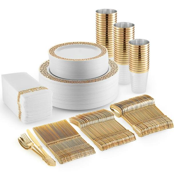 350 Piece Plastic Dinnerware Set Include Plastic Dinner ...