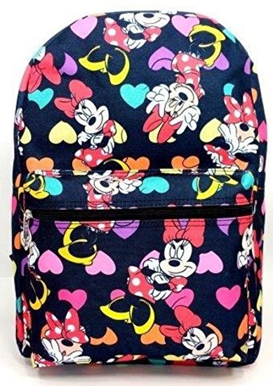 Backpack - Disney - Minnie Mouse w/Hears School Bag New 100292