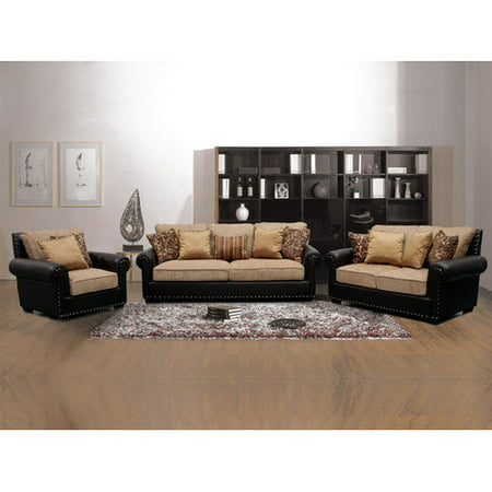 Walmart Living Room Sets Chelsea 3 Living Room Set Black