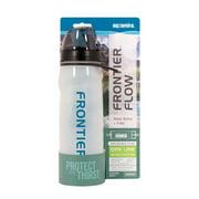 Aquamira Frontier Flow Filtered Water Bottle Green Line