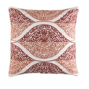 22 coral red and artic white chevron decorative throw pillow down filler - Coral Decorative Pillows