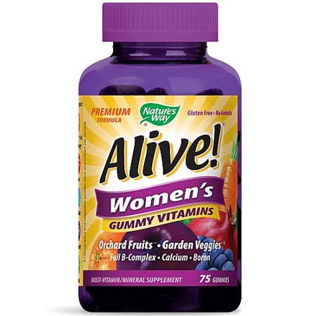 Natures Way Alive  Womens Gummy Vitamins  75 Ct