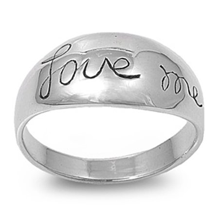 sterling silver women 39 s love me cute promise ring sizes. Black Bedroom Furniture Sets. Home Design Ideas