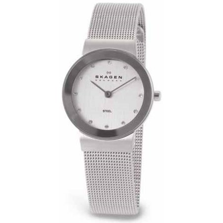 Women's Skagen Mesh Crystallized Watch 358SSSD