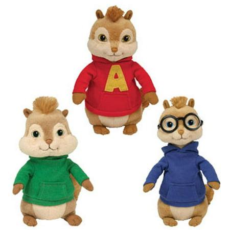 TY Beanie Babies - ALVIN   THE CHIPMUNKS (Set of 3 - Alvin 444939089d17
