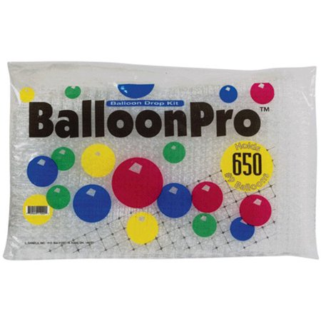 BalloonPro Net Drop Kit Holds 375 Eleven Inch Balloons, 25' x 14' - Net For Balloon Drop
