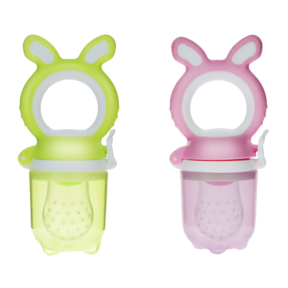 Baby Food Feeder ,Fresh Food & Fruit Feeding Pacifier Baby Safe Feeder Silicone Nipple Teething Toy for Infant & Toddlers