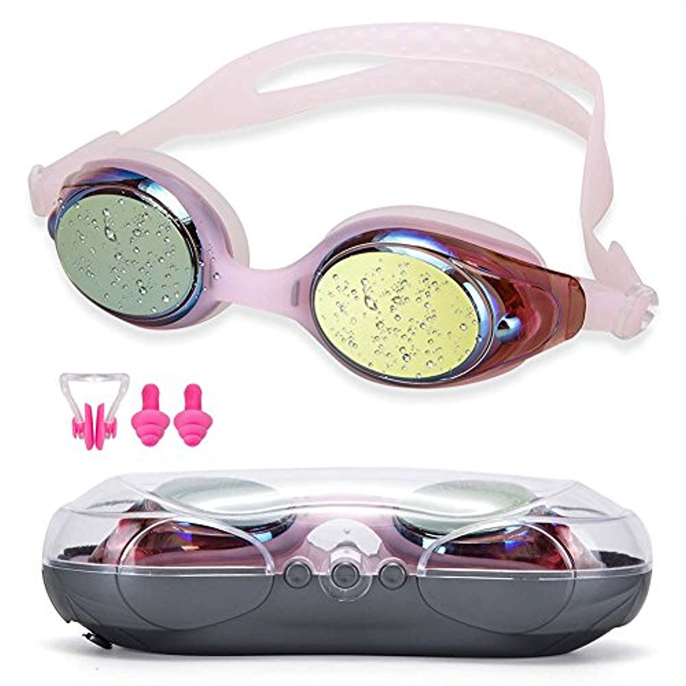 Swimming Goggles NGWALL Swim Goggles no Leakage Fog anti-UV Free Nose Clip Earbuds Suitable for Men and Women Young... by LIVEDITOR LIGHTING
