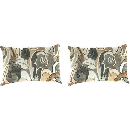 Jordan Manufacturing Indoor Outdoor Patio Toss Pillow Set Leena