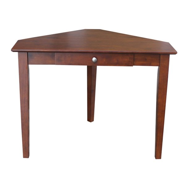 Copper Grove  Trappist Wooden Corner Desk with Butcher Block Surface