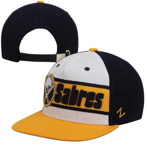 caf5f72b04f ... purchase zephyr buffalo sabres big boy adjustable snapback hat black  gold white osfa 86f09 f1923