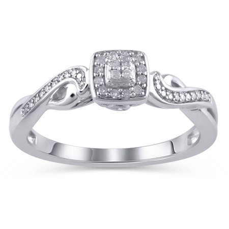 hold my hand 120 carat tw sterling silver promise ring - Wedding Rings From Walmart