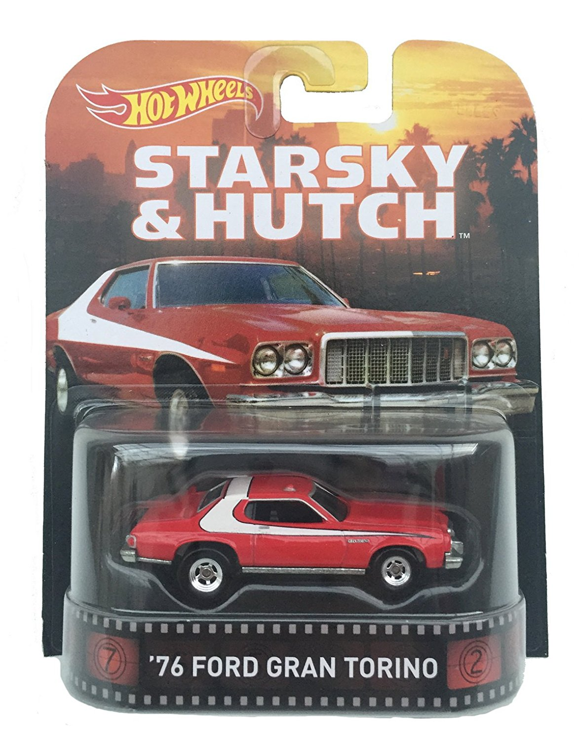 Hot Wheels 1:64 Scale Retro Entertainment Starsky & Hutch 1976 Ford Gran Torino by Hot Wheels