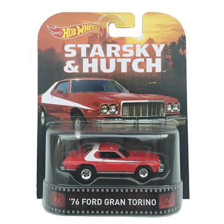 1976 Ford Gran Torino - Hot Wheels 1:64 Scale Retro Entertainment Starsky & Hutch 1976 Ford Gran Torino