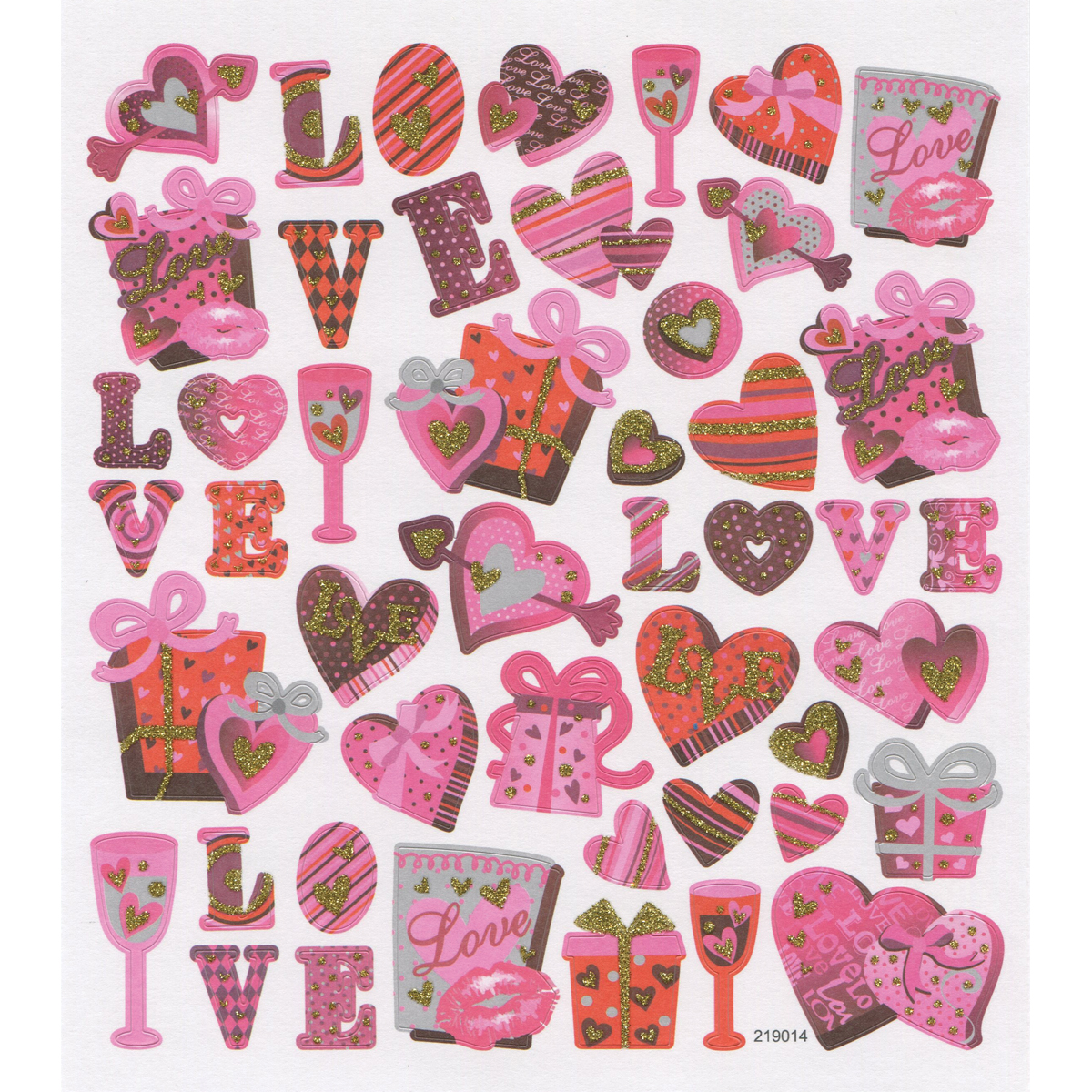Multicolored Stickers-Valentine Love