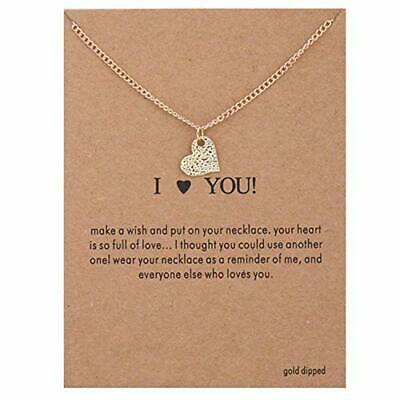 Titanium Heart Pendant - Maya's Grace I Love You Pendant Necklace Heart Gift Lady Women Fashion Jewelry