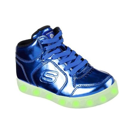 Children's Skechers S Lights Energy Lights Eliptic High Top Sneaker - High Top Sparkle Sneakers