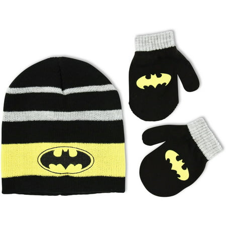 a18b8e81f42 Batman - DC Comics Toddler Boys Beanie Hat and Mitten Cold Weather ...