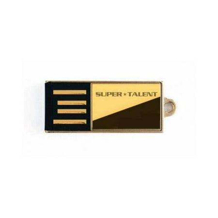 Super Talent STU16GPCG Pico-c 16gb Gold Limited Edition Usb 2.0 Flash Drive ()