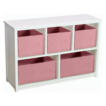 Guidecraft Classic White Bookshelf with Optional Baskets (Guidecraft Stacking Bookcase)