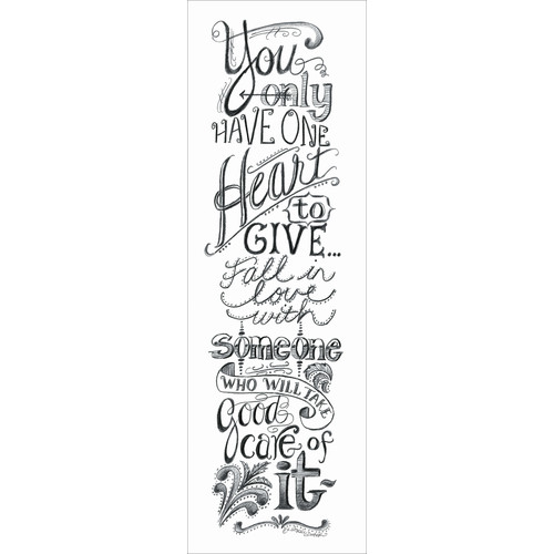 LPG Greetings Life Lines You Only Have One Heart by Lori Voskuil-Dutter Textual Art Plaque