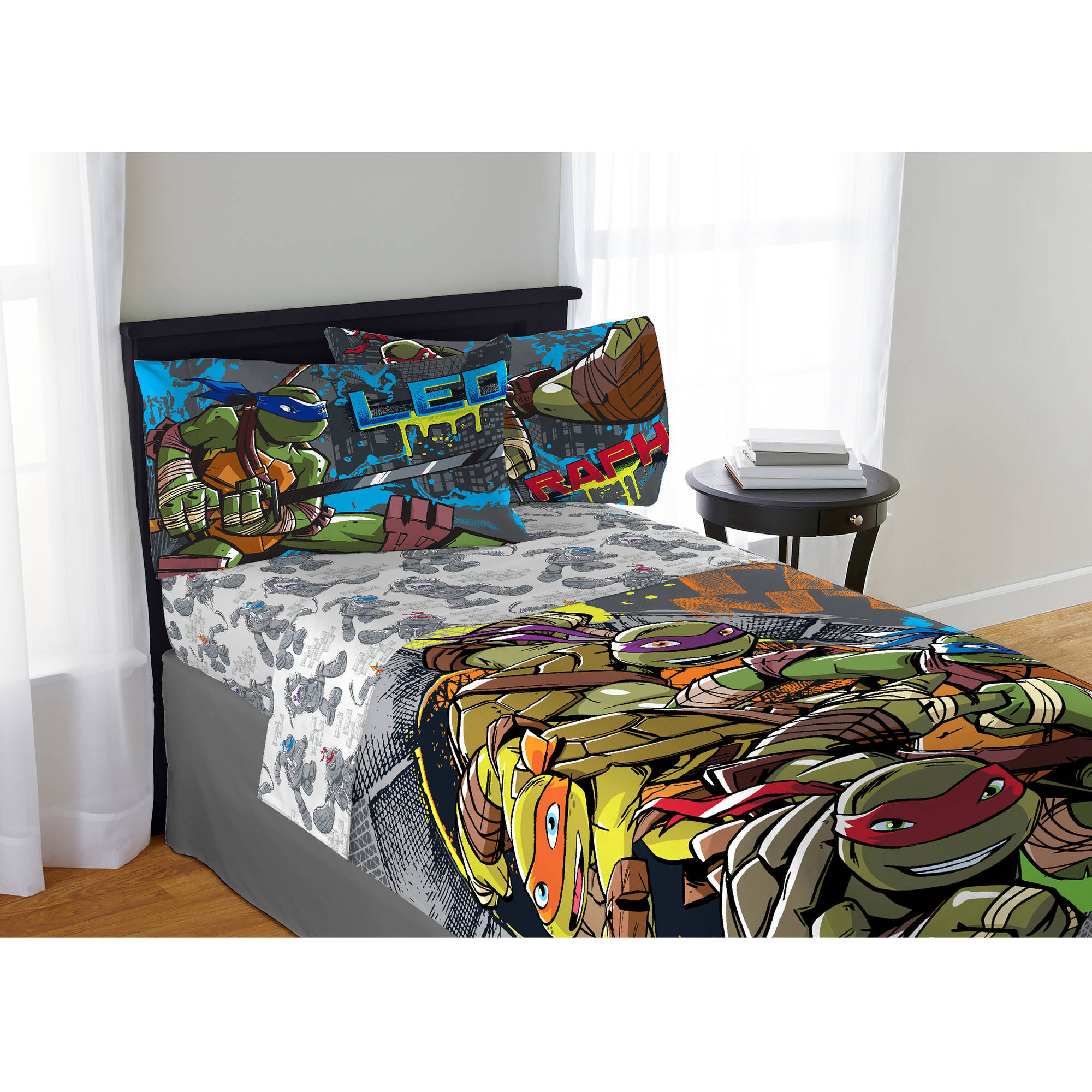 Teenage Mutant Ninja Turtle Cross Hatching Bedding Sheet Set, Twin ...