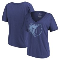 Memphis Grizzlies Let Loose by RNL Women's Distressed Primary Logo V-Neck T-Shirt - Heathered Navy
