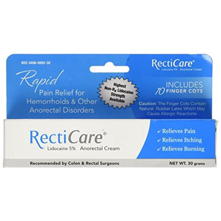 5 Pack - RectiCare Anorectal Cream 1 oz (30g) Each