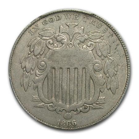 1866 Shield Nickel XF-45 PCGS (Rays) (1866 Shield)