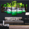 5 Pieces  Unframed Large Modern Abstract Art -HD waterfall canvas wall Decor Painting Require a Frame