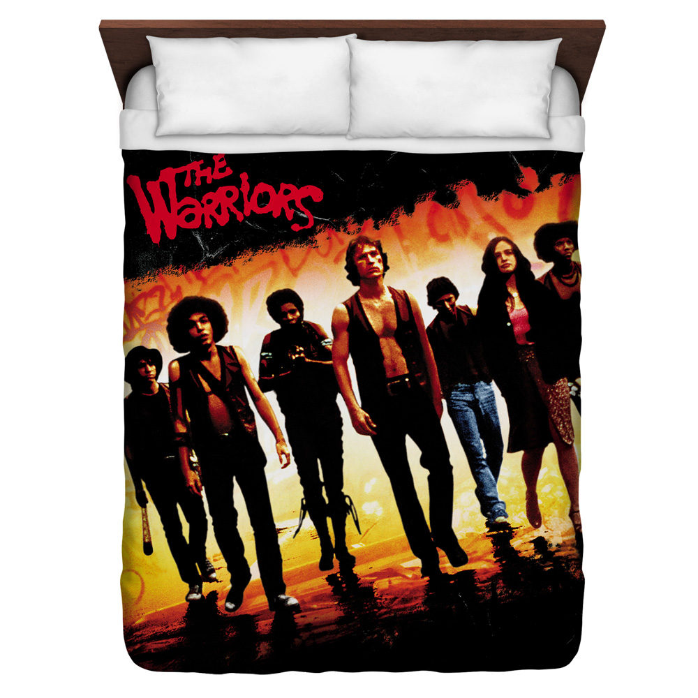 Warriors Walk Queen Duvet Cover White 88X88