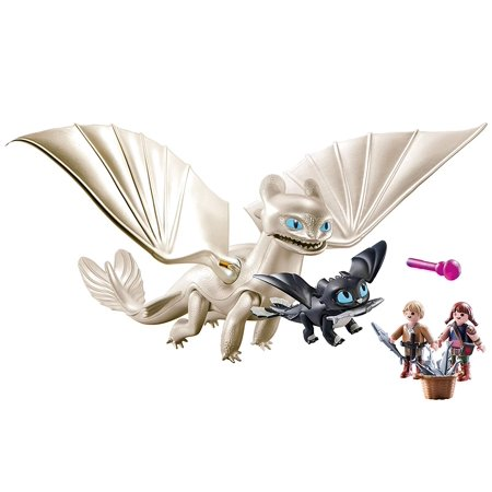 PLAYMOBIL How to Train Your Dragon III Light Fury with Baby Dragon and -