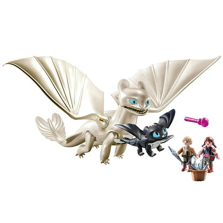 PLAYMOBIL How to Train Your Dragon III Light Fury with Baby Dragon and Children - Walmart.com