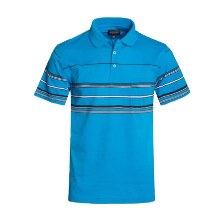 Tonal Jersey Stripe Polo - Hawks Bay Men's Stripe Polo Jersey Turquoise Small