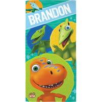 Personalized Dinosaur Train and Friends Kids Beach Towel
