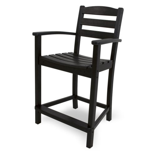 POLYWOOD® La Casa Cafe Recycled Plastic Counter Height Arm Chair