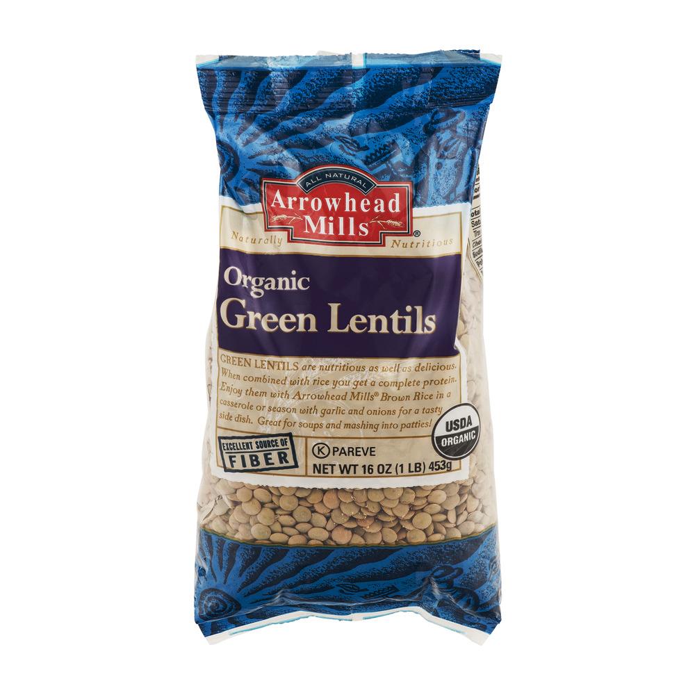 Arrowhead Mills All Natural Organic Green Lentils, 16.0 OZ by Arrowhead Mills