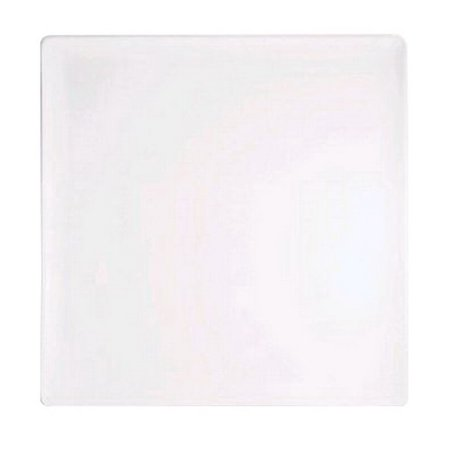 """Front of The House Porcelain Square Plate White, 8.25"""" Length x 8.25"""" Width x 0.5"""" Height 