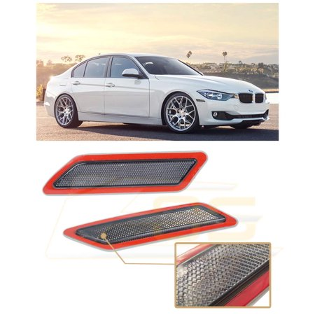 Extreme Online Store Replacement for 2012-2015 BMW F30 F31 3-Series Base Bumper Model EOS Factory Style Crystal Clear Front Bumper Fender Reflector Side Marker Lights Turn Signal Lamps