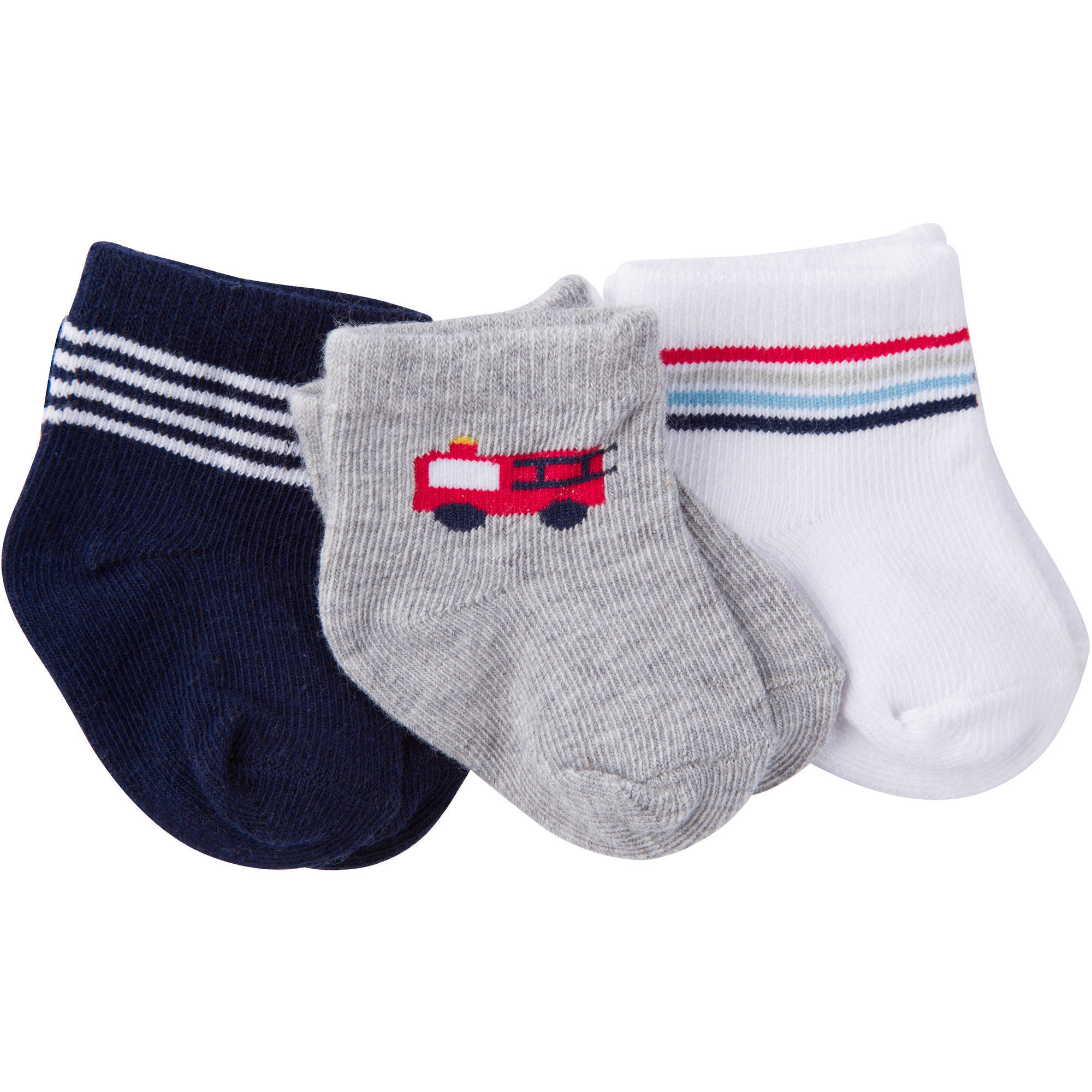 newborn baby boy ankle bootie socks 3pack walmartcom